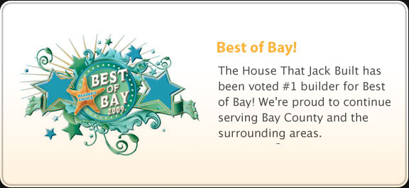 Voted #1 Builder 2009 Best of Bay